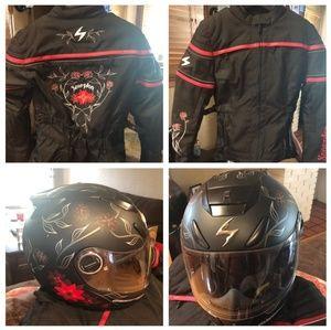 Scorpion Jacket w/ matching Helmet Bundle